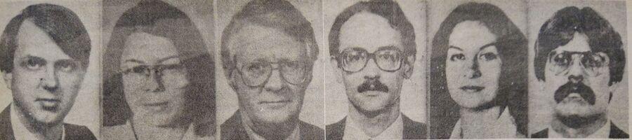 Шесть американских дипломатов, вывезенных из Ирана в результате тайной операции Канадская хитрость в 1980 году