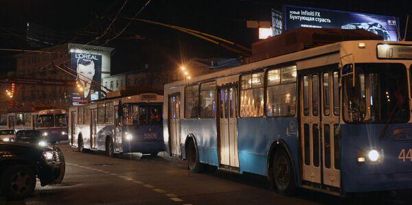 Движение троллейбусов в Москве остановлено