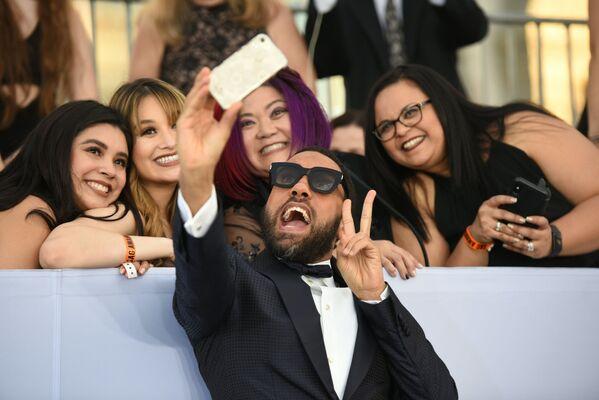 О. Т. Фагбенли на церемонии вручении премии Гильдии киноактеров США