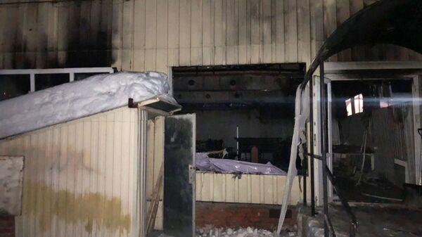 Последствия пожара в кафе в Лысых Горах В Саратовской области