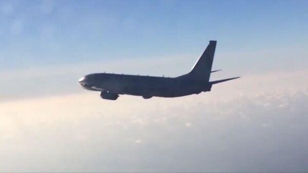 Российский истребитель Су-27 перехватил самолет-разведчик P-8A Poseidon ВВС США над акваторией Балтийского моря