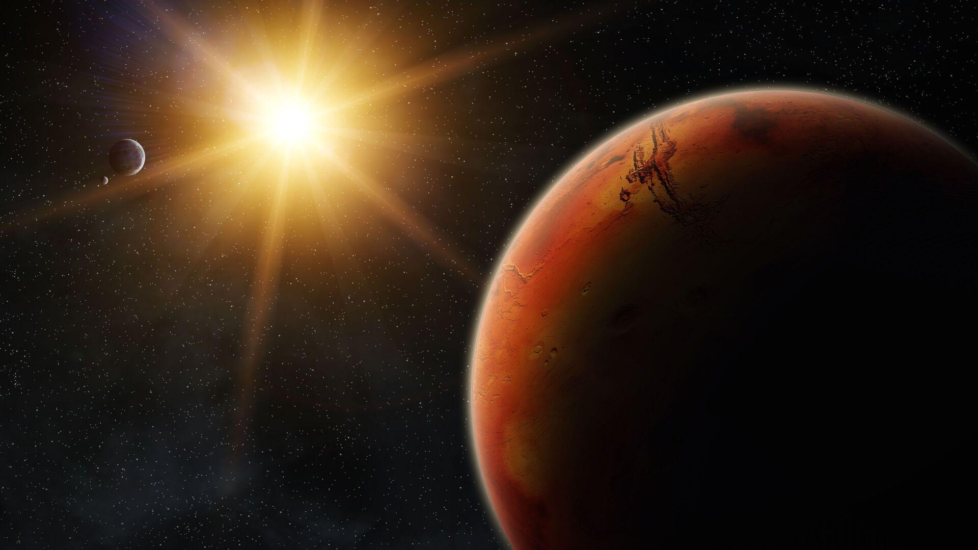Марс во время восхода солнца - РИА Новости, 1920, 27.11.2020