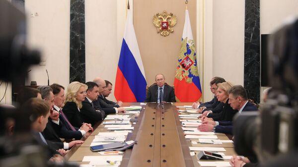 Президент Владимир Путин проводит совещание с членами правительства. 30 января 2019