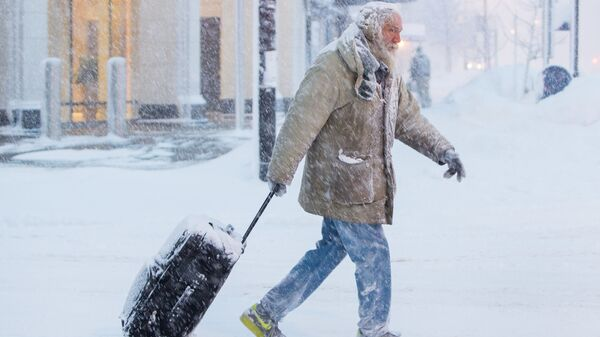 Снегопад в Баффало, США