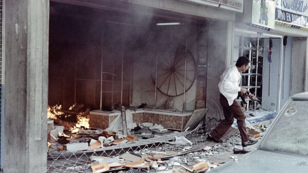 Беспорядки в Каракасе в знак протеста против повышения цен на бензин и транспорт. 27 февраля 1989 года