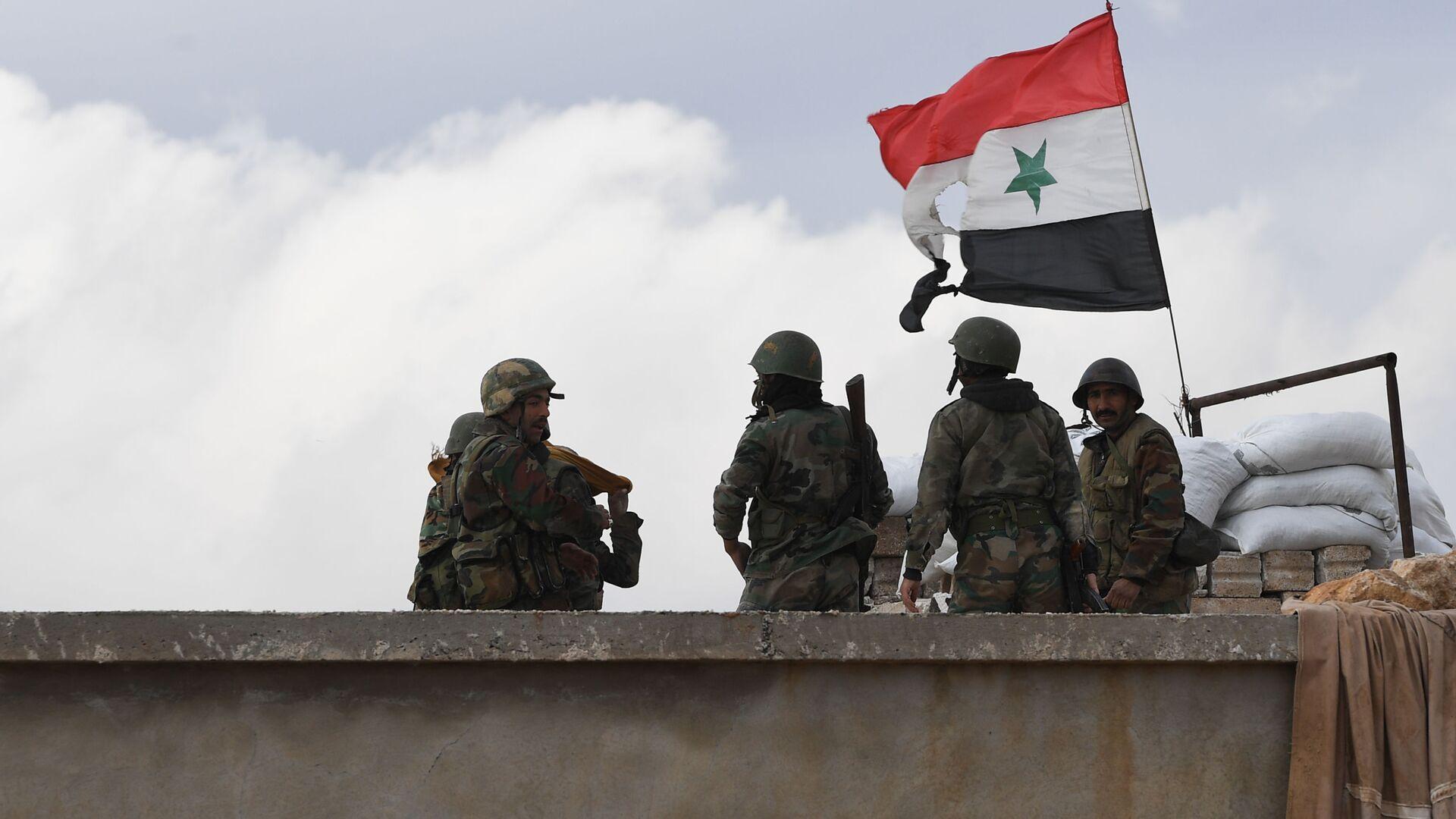 Сирийские военные - РИА Новости, 1920, 22.01.2021