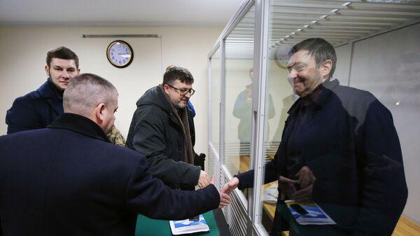 Руководитель портала РИА Новости Украина Кирилл Вышинский в Херсонском апелляционном суде. 31 января 2019
