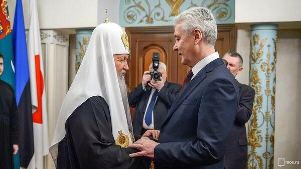 Сергей Собянин поздравил Патриарха Кирилла с годовщиной интронизации