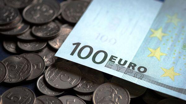 Российский рубли и евро