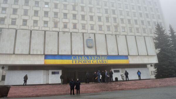 Здание Центральной избирательной комиссии (ЦИК) Украины в Киеве