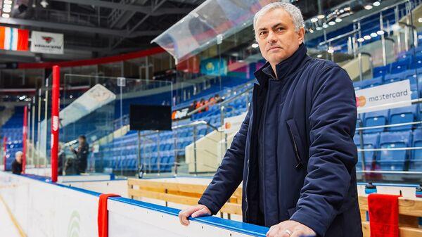 Жозе Моуринью на хоккейной арене в Балашихе