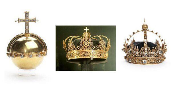 Королевские короны и держава, украденные в конце июля 2018 года из собора Стренгнес близ Стокгольма