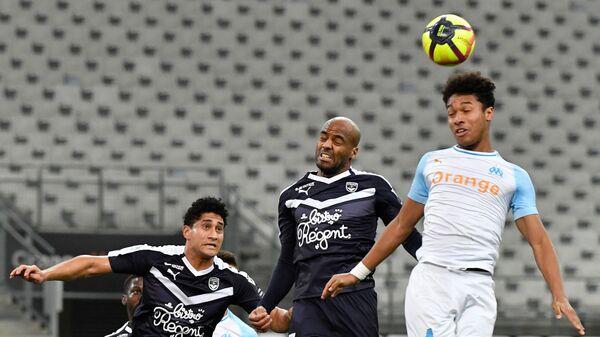 Игровой момент матча Марсель - Бордо
