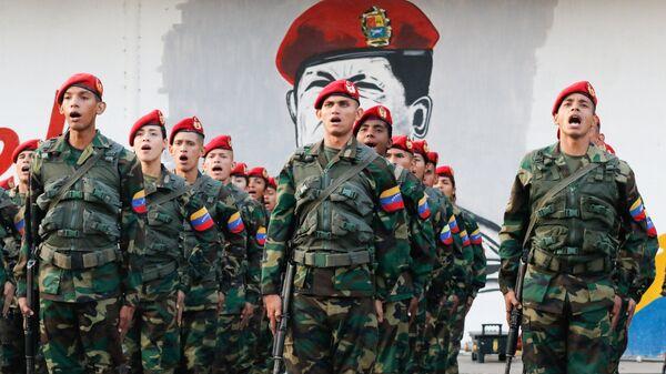 Солдаты в Маракае, Венесуэла. 4 февраля 2019