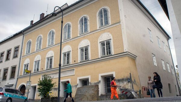Дом в городе Браунау-ам-Инн, где родился Адольф Гитлер