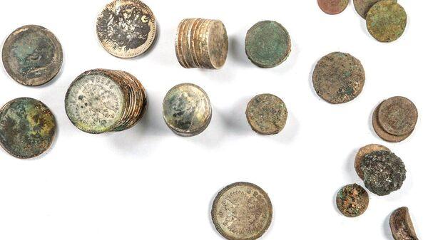 Клад из монет XIX–XX веков нашли при раскопках на Долгоруковской улице в Москве. 7 февраля 2019
