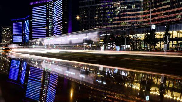 Ночная улица Новый Арбат