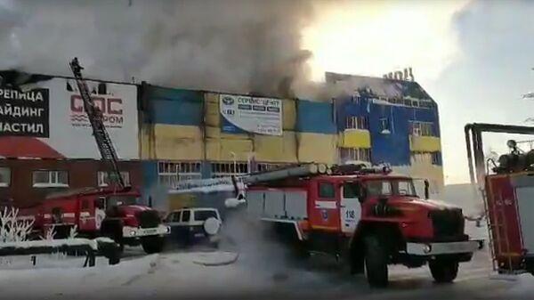 Пожар в Сургуте