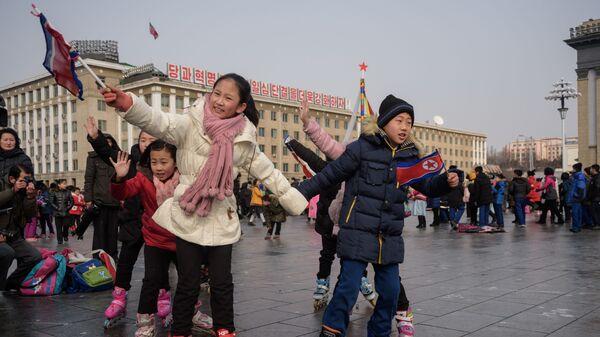 Дети в Пхеньяне