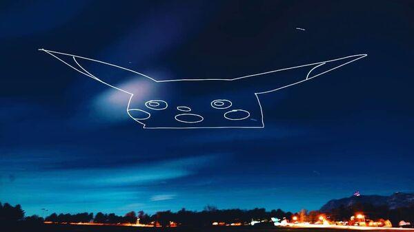 Световая картина, сделанная с помощью дрона