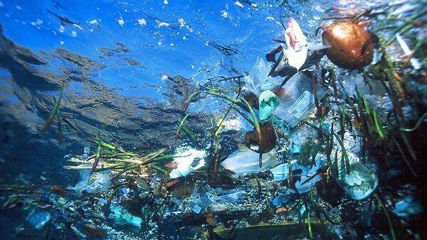 Плавающий в воде мусор. Архивное фото