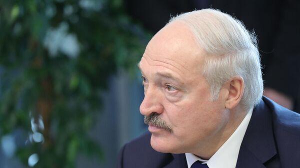 Президент Белоруссии Александр Лукашенко во время посещения образовательного центра Сириус в Сочи. 15 февраля 2019