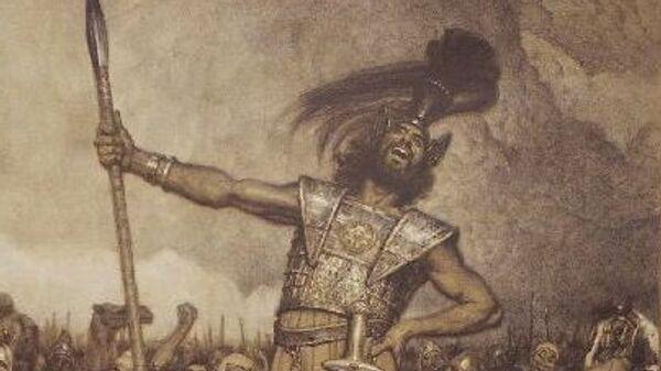 Картина художника Осмара Шиндлера Давид и Голиаф