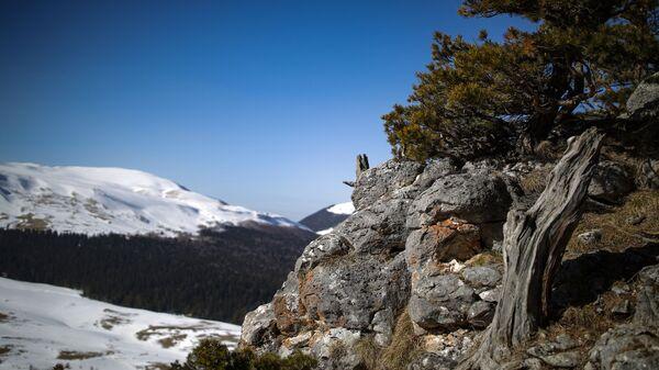 Вид на Лагонакское нагорье в республике Адыгея