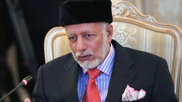 Ответственный за иностранные дела Омана Юсеф бен Аляви во время встречи в Москве с министром иностранных дел России Сергеем Лавровым