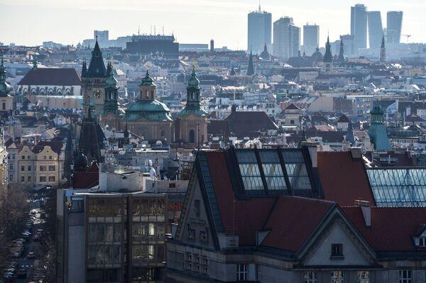 Виды Праги с горы Метроном