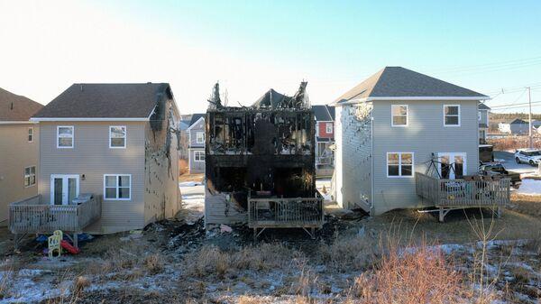 Сгоревший дом в Галифаксе, Канада. 19 февраля 2019