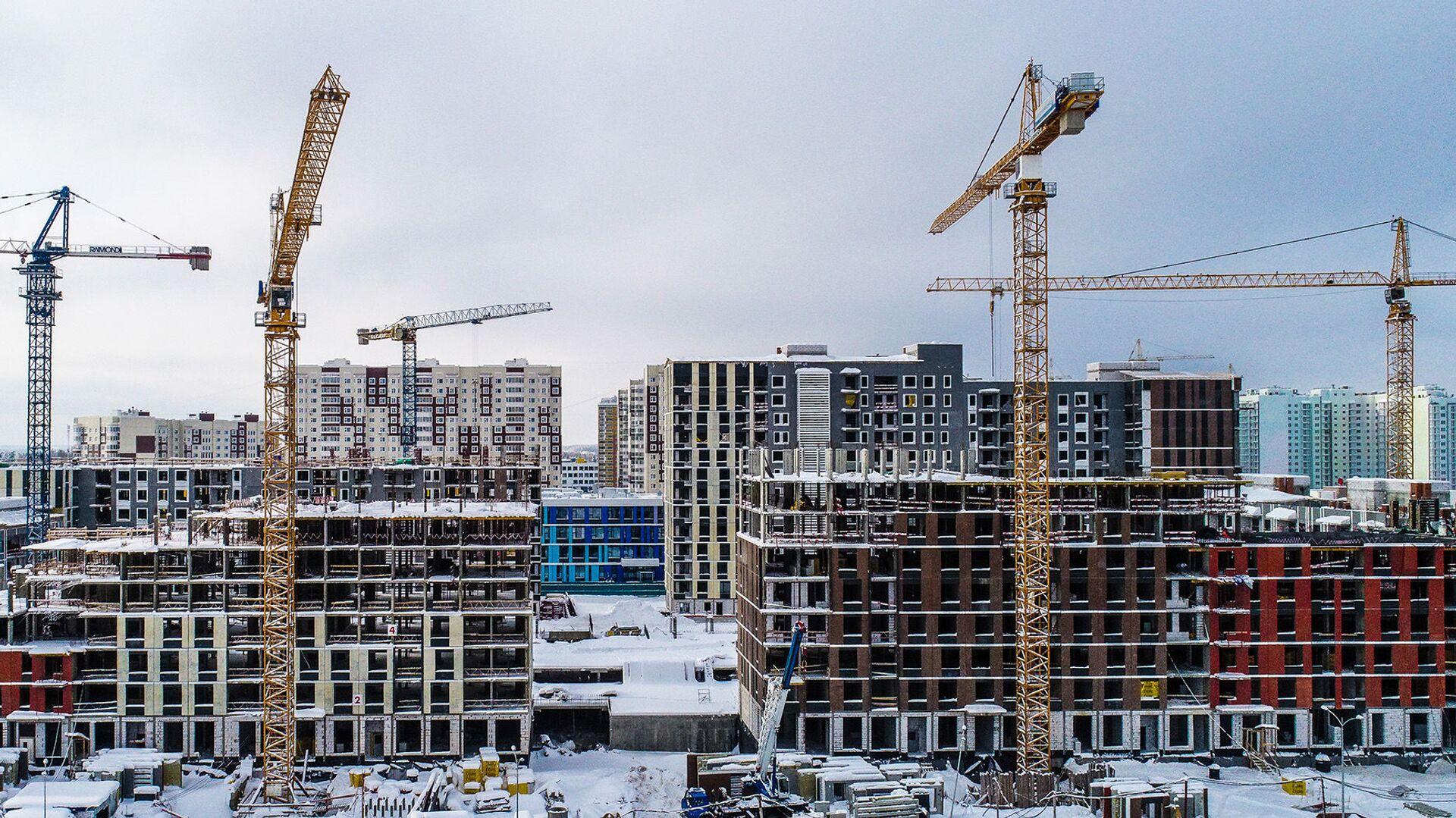 Строительство жилья - РИА Новости, 1920, 09.02.2021