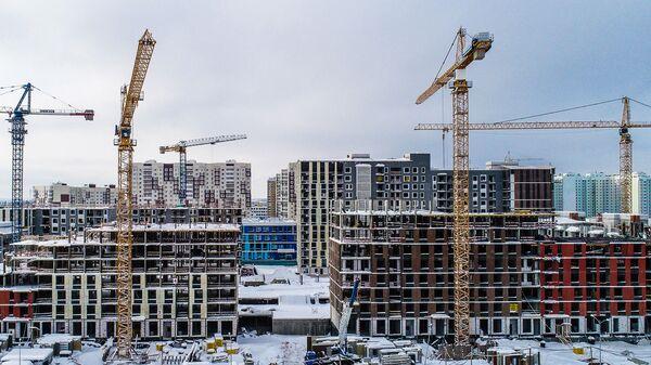 Строящиеся дома на территории Новой Москвы