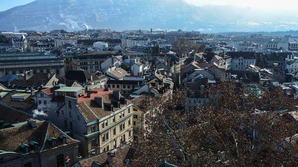 Вид на улицы Женевы