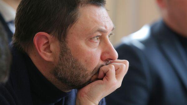 Руководитель портала РИА Новости Украина Кирилл Вышинский на заседании в Херсонском апелляционном суде. 21 февраля 2019