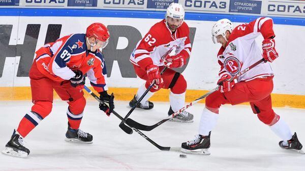 Хоккей. КХЛ. Матч ЦСКА - Витязь