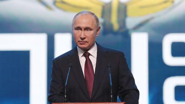Владимир Путин выступает на торжественном приеме в честь Дня Сил специальных операций ВС РФ. 27 февраля 2019