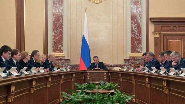 Дмитрий Медведев проводит совещание с членами кабинета министров РФ. 28 февраля 2019