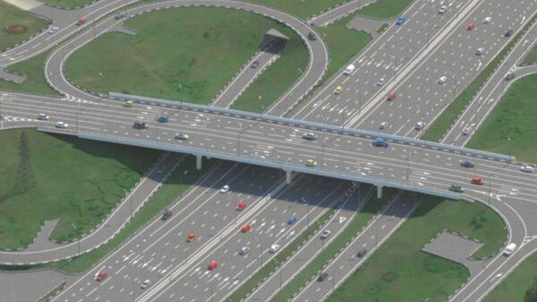Проект развязки улицы Генерала Дорохова с МКАД