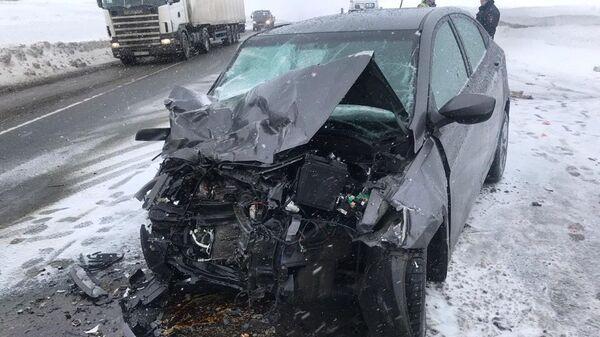 Последствия ДТП на обводной дороге Самары. 1 марта 2019