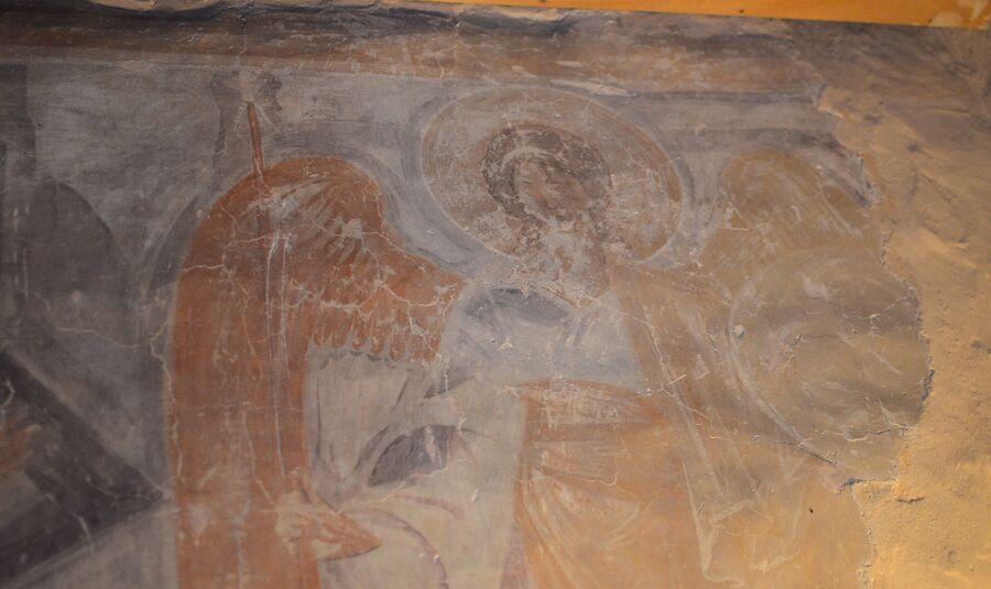 Архангел Гавриил, фреска в Троицком приделе, храм Спаса Преображения на Ильине улице, Феофан Грек, 1378 г.
