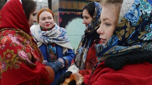 Празднование Широкой Масленицы в Москве