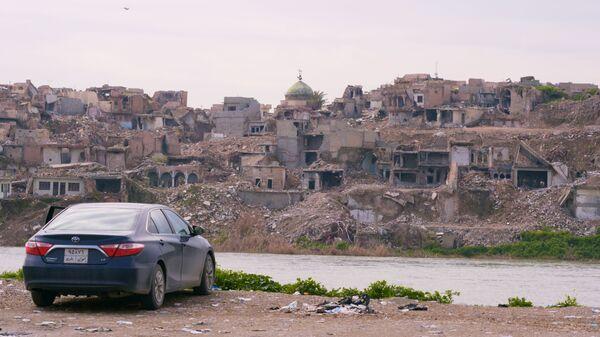 Вид на Западный берег реки Тигр в Мосуле, Ирак