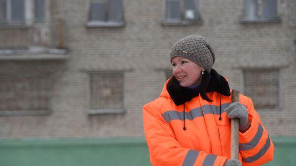 Дорожная рабочая Ирина Грезева