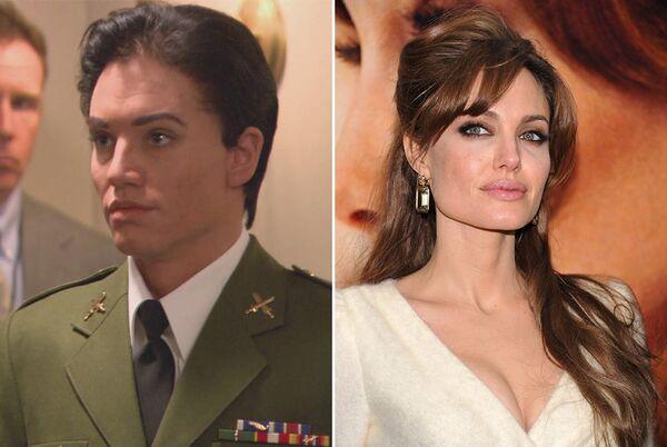 Анджелина Джоли в фильме Солт (2010) и в жизни