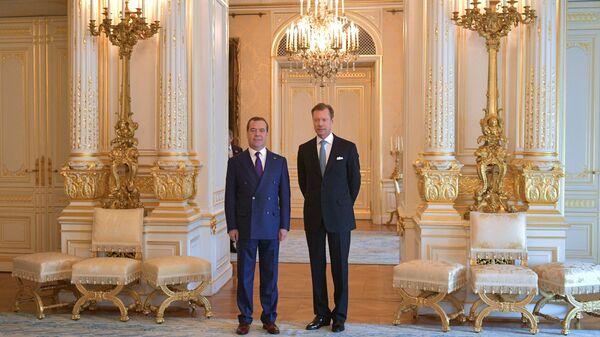 Дмитрий Медведев и Великий Герцог Люксембургский Анри во время встречи в Люксембурге