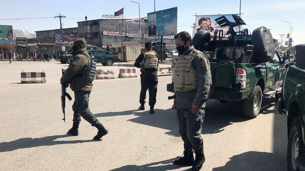 Сотрудники правоохранительных органов Афганистана в Кабуле. 7 марта 2019
