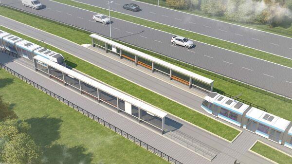Проект трамвайной линии в Бирюлево