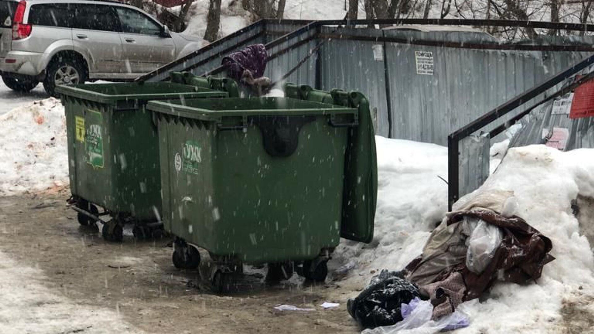 В Рязани мать выбросила новорожденного сына в мусорный контейнер - РИА Новости, 1920, 04.10.2020