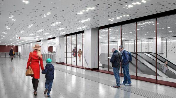 Проект станции метро Стромынка московского метрополитена